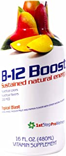 High Performance Fitness, Inc. 1st Step Liquid B-12 Tropical Blast 16-Ounce, 1 Bottle