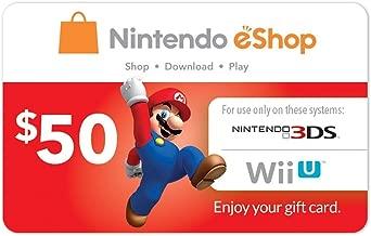 Cartão Nintendo eShop 50 Dólares para Switch, 3DS, Wii U [Digital]