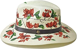 """MARTHA BETANZOS -""""Sombrero bugambilias Rojas"""""""