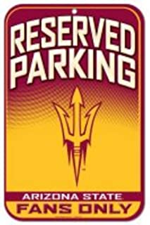 "WinCraft Arizona State University ASU Sun Devils 11"" x 17"" Fence Plastic Parking Sign"