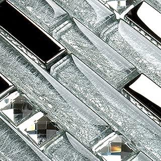 Best glass diamond tile backsplash Reviews
