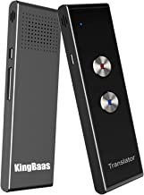 KingBaas Smart Language Translator Device Handheld Portable Real Time Instant Two-Way Language Translation Support 39 Language Freely Translation (Gray)