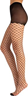 CALZITALY Collant a Rete | Calze a Rete Grande | Moda Donna | Collant Rete Fashion | XS, S/M L/XL | Nero, Naturale | Made ...