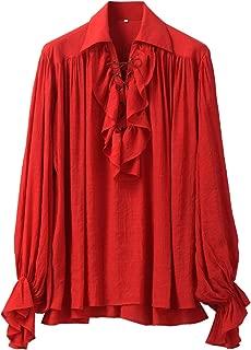 GRACEART Renaissance Men's OR Women's Pirate Shirt Medieval Costume Cotton