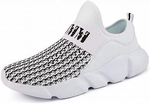 Filets Creux Creux Creux - Chaussures de Loisirs - Coussin - Tendance - Chaussures - Hommes (Couleuré   Blanc, Taille   45) 256