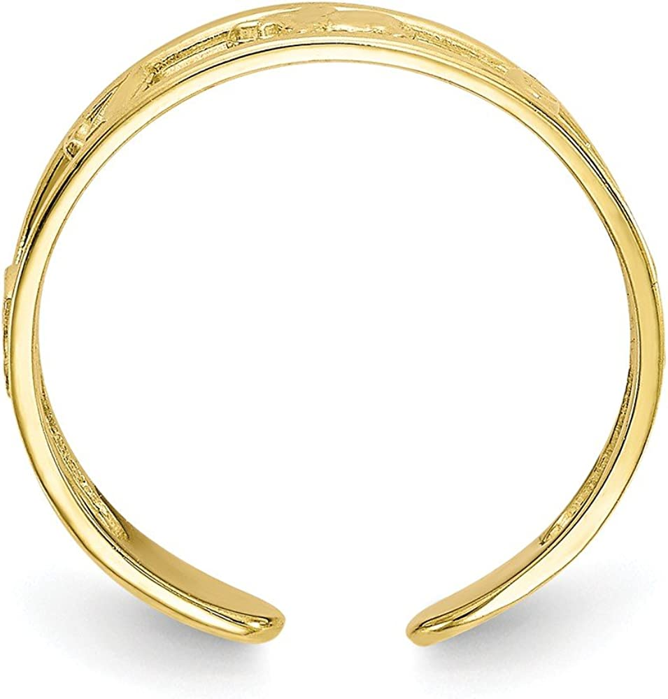 Solid 10k Yellow Gold Luck Toe Ring (5mm)