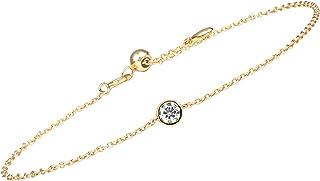 14K Gold Birthstone Charm Bracelets for Women
