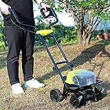 FSJD Cordless Lawn Scarificatore, Elettrico coltivatore, 4 Tiller Lame, 36CM Tilling Largh...