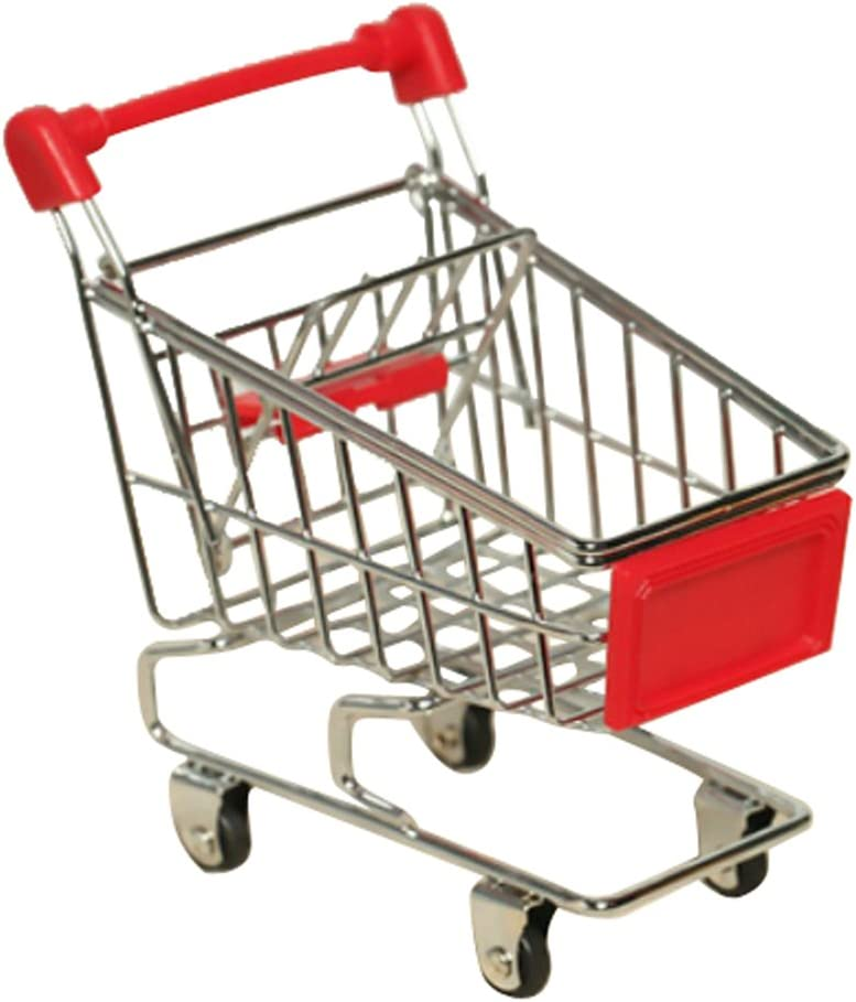 Limited price sale JJ Free Shipping Cheap Bargain Gift Store Mini Supermarket Shopping Cart Office Toy Trolley Home
