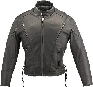 Men's Vented Leather Jacket