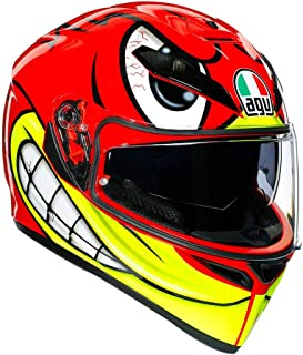AGV K3 SV Birdy Adult Street Motorcycle Helmet - Red/Yellow/Medium/Small