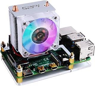 GeeekPi Raspberry Pi Cooling Fan, Raspberry Pi ICE Tower Cooler, RGB Cooling Fan with Raspberry Pi Heatsink for Raspberry ...