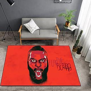 Tritow USA NBA Basketball Carpet NBA Harden Salon Tapis antidérapant Facile à Nettoyer Tapis de Zone d'impression 3D Tapis...