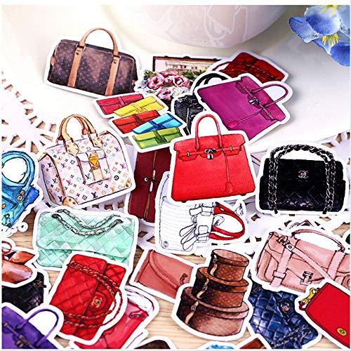 JIANGGUOMIN 36pcs kreative selbst gemachte Frauen-Handtaschen-kosmetische schöne Aufkleber/dekorativer Aufkleber/DIY Fertigkeits-Foto-Alben