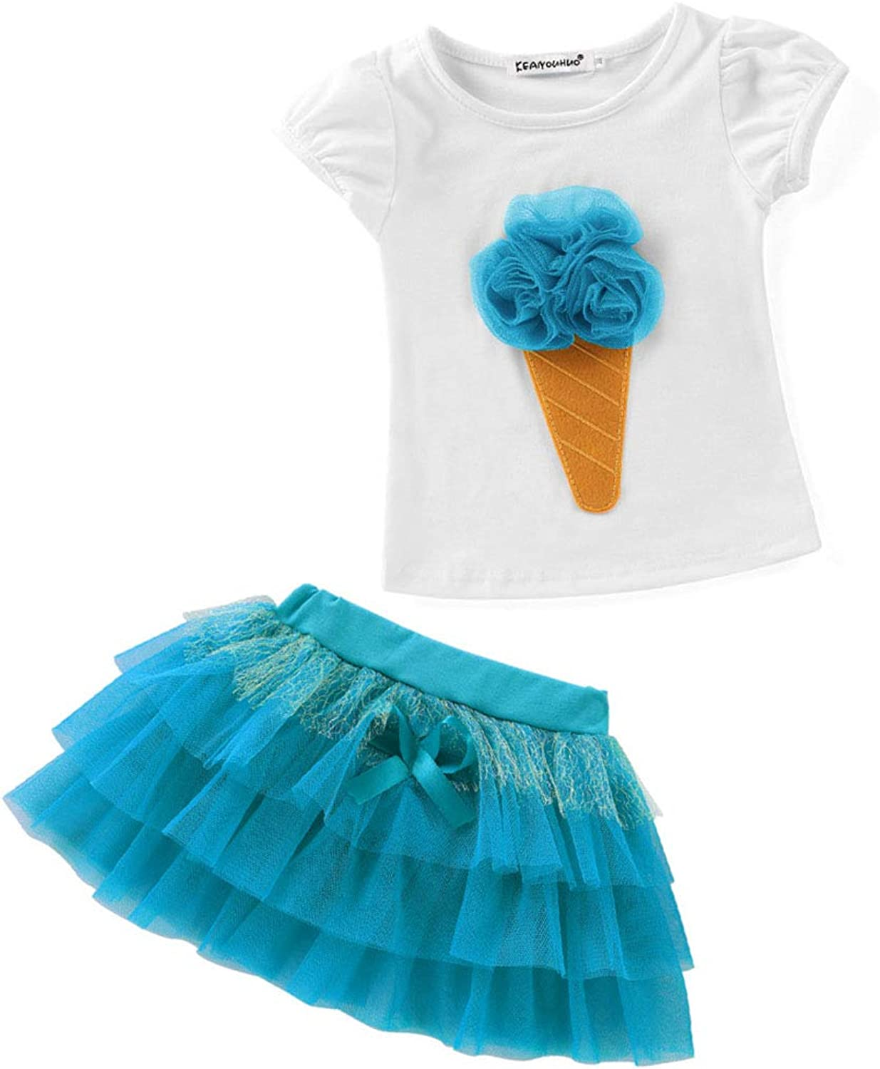 KERVINJESSIE Cute Baby Clothes Two Pcs Set Tshirt and Tutu Dress Summer Outfit