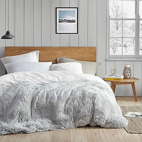 Byourbed Coma Inducer King Duvet Cover - are You Kidding? - Glacier Gray/White
