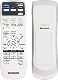 EWO'S Universal Projector Remote Control for Epson Home Cinema, Powerlite, EB-, EX, VS, H, BrightLink, EMP- Series Project...