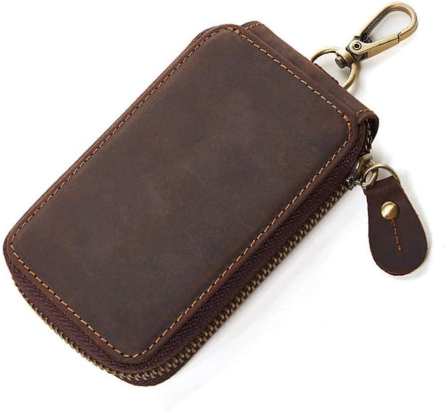 JN GRANGE Mens Genuine mart San Diego Mall Leather Car Orga Coin Hook Loop Case Key