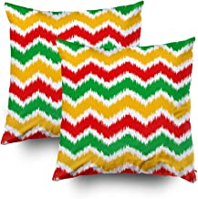 Hug Pillow Covers,Shorping Zippered Covers Pillowcases 20x20 Set of 2 Throw Pillow Covers classic reggae color music background Jamaica chevron seamless pattern poster vector illustration for Home Sof