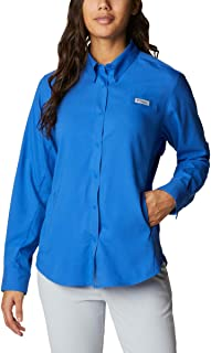 Columbia Women's PFG Tamiami™ II Long Sleeve Shirt, UV Sun Protection, Moisture Wicking Fabric