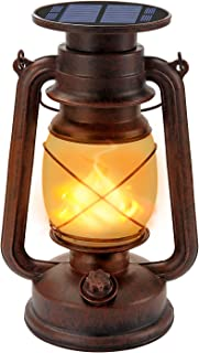 Solar Lantern Outdoor Led Vintage Lantern, Marlrin Hanging Solar Lights with Retro Design, Waterproof Dancing ing Outdoor ...