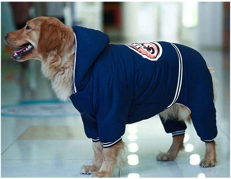ABLJ clothes for pets Haustierkleidung Hundekleidung Herbst- und Winterkleidung im großen Hund, der vierbeinigen Baumwollmantel verdickt - Marineblau -2XL B07KB19MMZ  Geeignet für Farbe   | Quality First