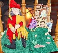 布絵本 布人形 変身人形 フリップオーバードール ラプンツェル&バイドパイパー ハーメルンの笛吹き男 童話の世界 人形劇 幼児教育