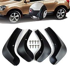 4Pce Mud Flaps, barro Frontal Posterior ABS Fender Negro Guardia Splash Flaps kit con tornillos de rueda completa protección contra la suciedad for para Nissan Qashqai 2 y 2007-2013 (J10, enlace J10)