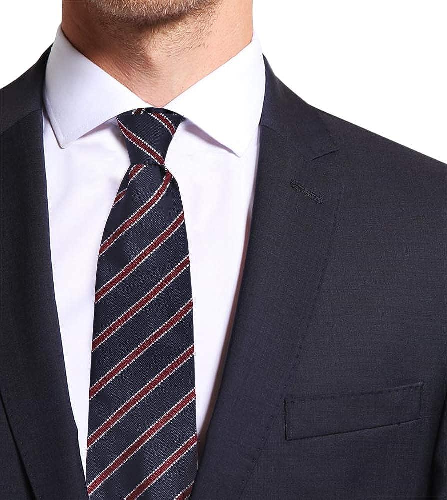 Fatta a Mano in Italia Cravatta Sartoriale Sfoderata Cinque Pieghe in Seta Rigata Remo Sartori Uomo