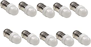 PA 10PCS T11 ba9s #44#47#1893#756#1847 2 SMD 2835 LED 6.3V DC Wedge Pinball Gaming Machine Light Bulb White