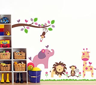 cuarto de ni/ños Rainbow Fox El arte Animales helado Tren pegatinas de pared para la decoraci/ón de habitaciones para ni/ños Boys /& Girls Dormitorio beb/é AY769