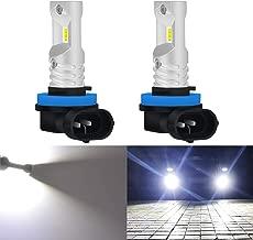 KaTur H8 H9 H11 Led Fog Light Bulb Max 80W High Power CSP Chips Extremely Bright 1600 Lumens 6500K Xenon White Replace for Fog Light or Daytime Running Light DRL,Pack of 2