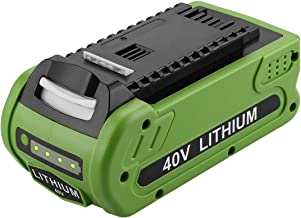 Powilling 40V 2500mAh Replacement Lithium Battery for GreenWorks 29462 Battery GreenWorks 40V G-MAX Power Tools 29252 20202 22262