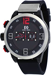 Danish Design #IQ24Q1021 Men's Resin Band Black Dial Chronograph Watch
