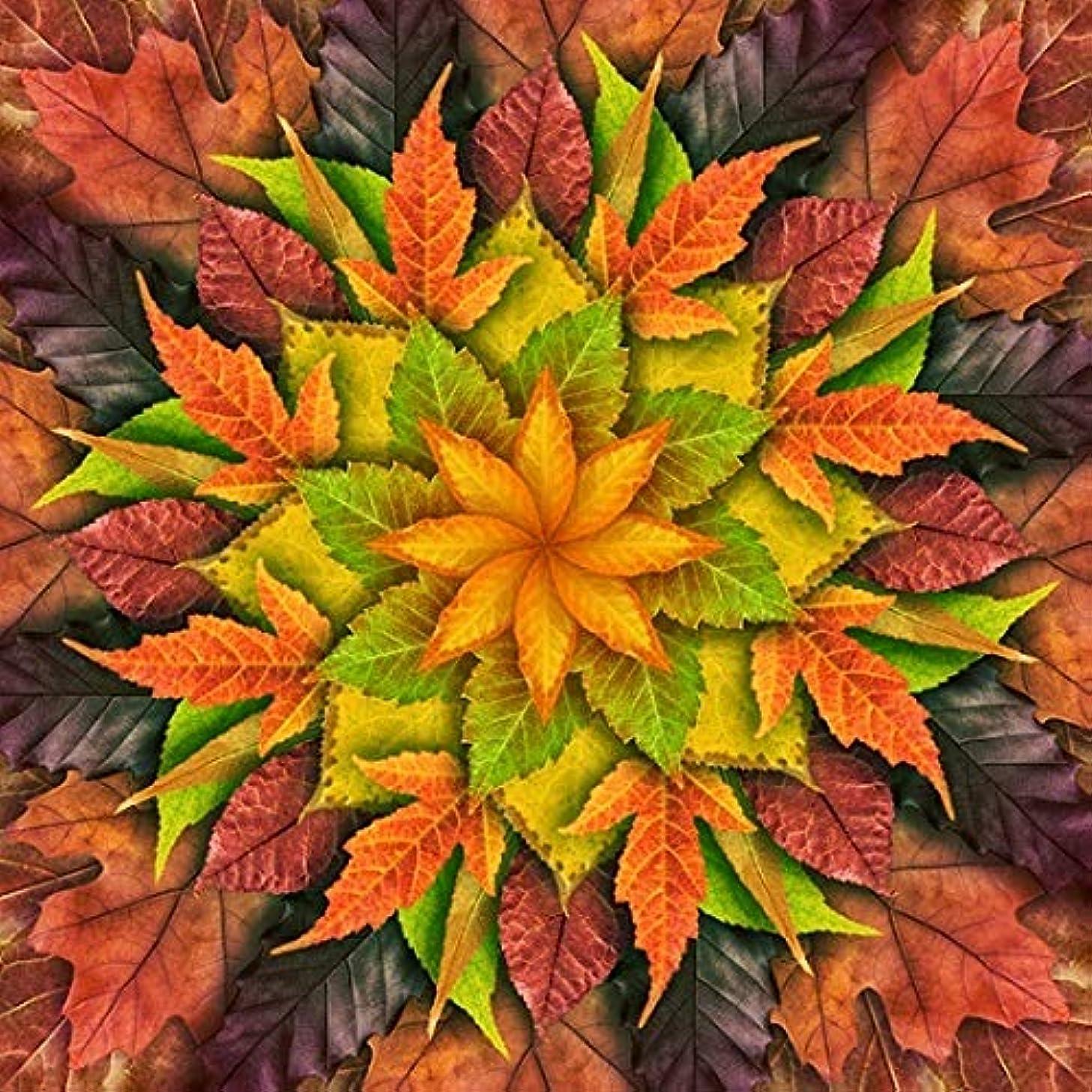 Dream Big Leaves - Autumn - Digital Panel -Large Flora - r4617-66 l -by Hoffman Fabrics