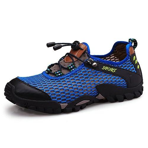 566213350e SCIEU Mens Summer Outdoor Mesh Shoes Lightweight Quick Drying Trainers  Sport Sandals Climbing Hiking Sneaker