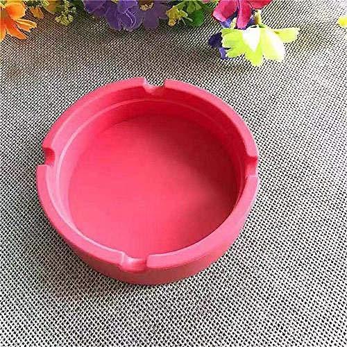 AMITD Siliconen Soft Round asbak sigarettenpunt hittebestendige asbak platen asbak groen Rood rood