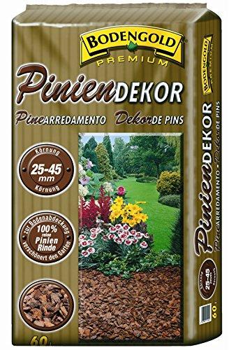 Pinienrinde Bodengold 25-45mm 60 L Bodengrund Dekomulch Rindenmulch Terrarienerde