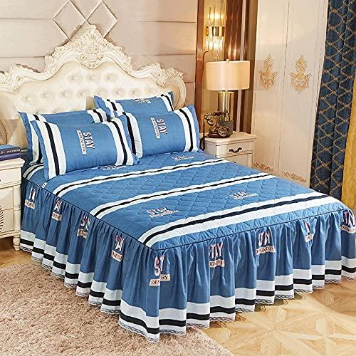 CYYyang Protector de colchón, algodón, poliéster, Falda de Cama Individual de Sarga gruesa-14_120 * 200cm