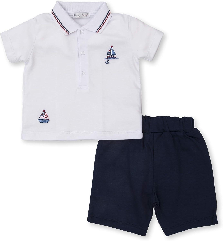 Kissy Kissy Baby-Boys Infant Summer Seas Bermuda Short Set with Collar