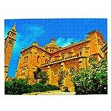 Malta Gozo Cathedral Jigsaw Puzzle de 500 piezas para adultos niños de madera regalo recuerdo 20 x 15 pulgadas (FX03789)