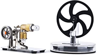 DjuiinoStar 2IN1 Low Temperature Stirling Engine/Hot Air Stirling Engine Combo: Starter's Best Choice