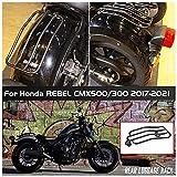 para 17-21 Ho-n-da Rebel CMX 500 300 Motocicleta Portaequipajes trasero Portaequipajes Soporte para cesta Soporte Soporte Soporte de cesta 2017 2018 2019 2020 2021 CMX500 CMX300 Accesorios de moto