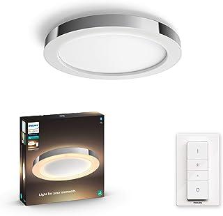 comprar comparacion Philips Hue Adore Plafón Inteligente LED gris para baño con Bluetooth, 40W, Luz Blanca de Cálida a Fría, Compatible con Al...