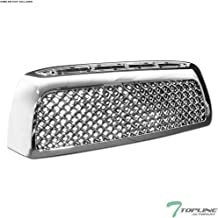 Topline Autopart Chrome Mesh Front Hood Bumper Grill Grille ABS For 07-09 Toyota Tundra