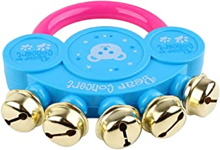 Gaddrt Kids Baby Design Handbell Musical Instrument Jingle Rattle Toy Birthday Presents for Children Gift
