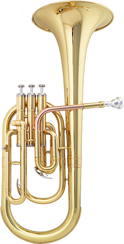 Professional E Flat Keys High Ranking TOP16 Grade Brass Gold Max 68% OFF w Wind Instrument