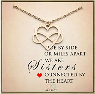 Unbiological Sister Necklace BFF Gift Sister Gift Infinity Heart Necklace Friendship Necklace