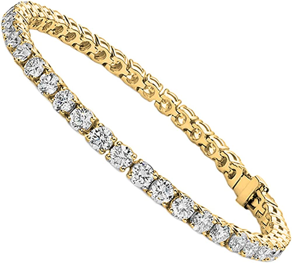 Jade Marie Fabulous Silver Tennis CZ Bargain New York Mall sale Bracelet with Crystals Bea