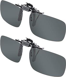 Clip-on Sunglasses, Splaks Unisex Polarized Frameless Rectangle Lens